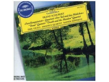 """Franz Schubert, Emil Gilels, Amadeus-Quartett, Rainer Zepperitz - """"Forellenquintett"""" • Quartett """"Der Tod Und Das Mädchen"""" / """"Trout Quintet"""" • """"Death And The Maiden"""" Quartet"""