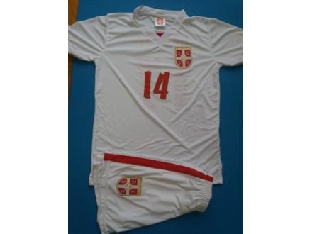 Fudbalski dresovi  Srbije beli NOVO