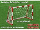 Fudbalski gol - crveno-beli 90x60cm