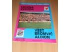 Fudbalski program Crvena zvezda - Vest Bromvič 1979