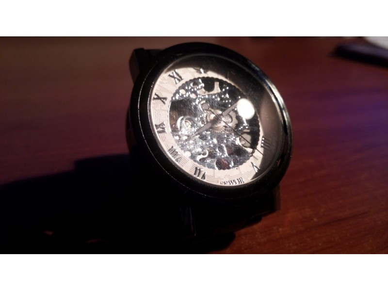 Full Steel Skeleton Mechanical WindWatch