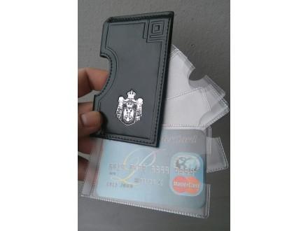Futrola za platne kartice 661, prirodna koža, ručni rad