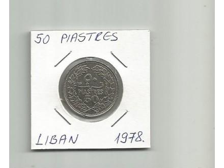 G6 Liban 50 piastres 1978.