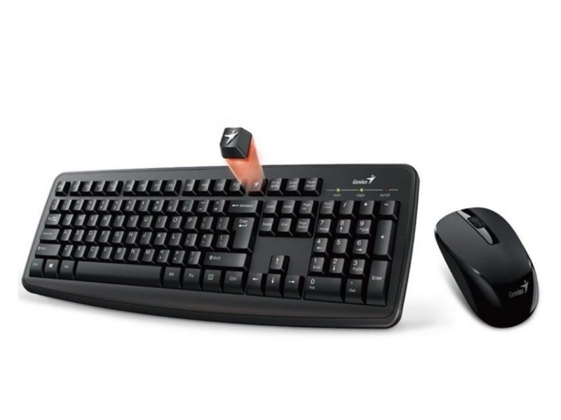 GENIUS Smart KM-8100 Wireless USB YU crna tastatura+miš