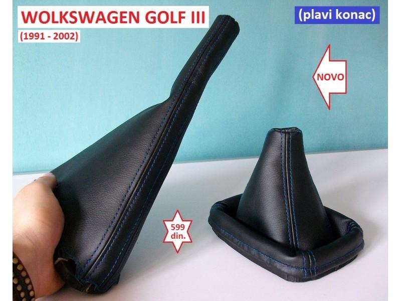 GOLF 3 kožica menjača i ručne PLAVI KONAC (1991-2002)