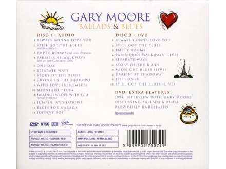 Gary Moore - Ballads & Blues 1982 - 1994 Special Edition CD & DVD Set