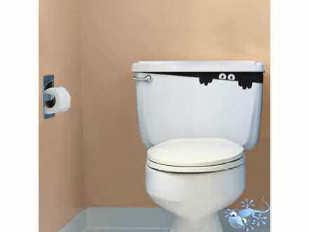 Geco-art Nalepnica toiletmonster