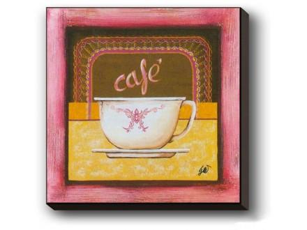 Geco art Reprodukcija na medijapanu CAFE