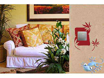Geco-art dekorativna Nalepnica za prekidač VI