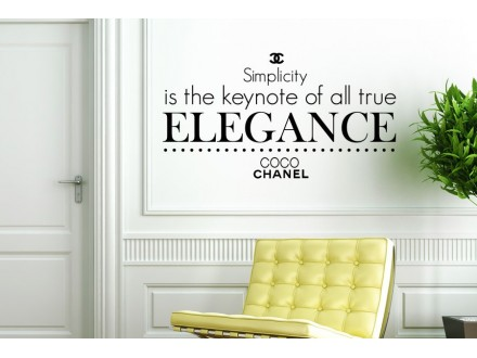 Geco-art dekorativna nalepnica  Coco Chanel