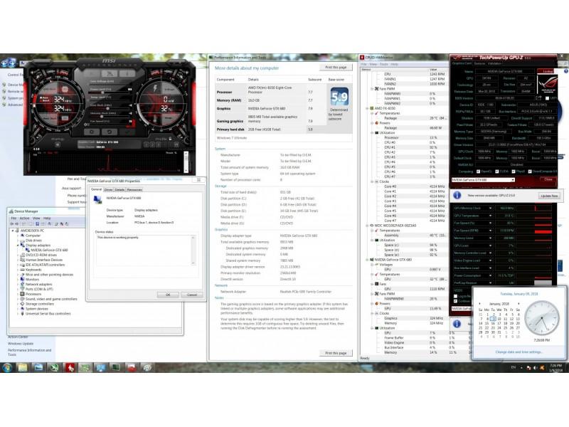 Gejmerska graficka ASUS GTX 680 DCU II! Extra ponuda!