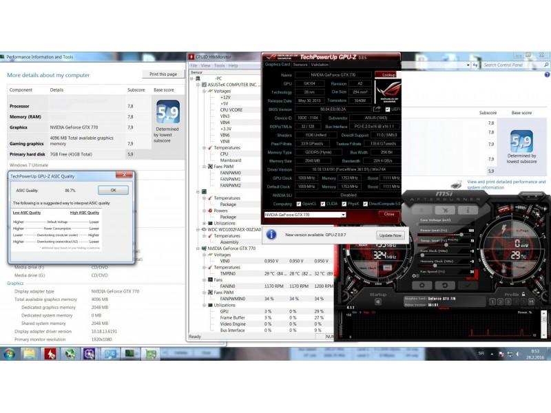 Gejmerska graficka Asus Gtx 770 DCU II OC!Asic 86,7%!
