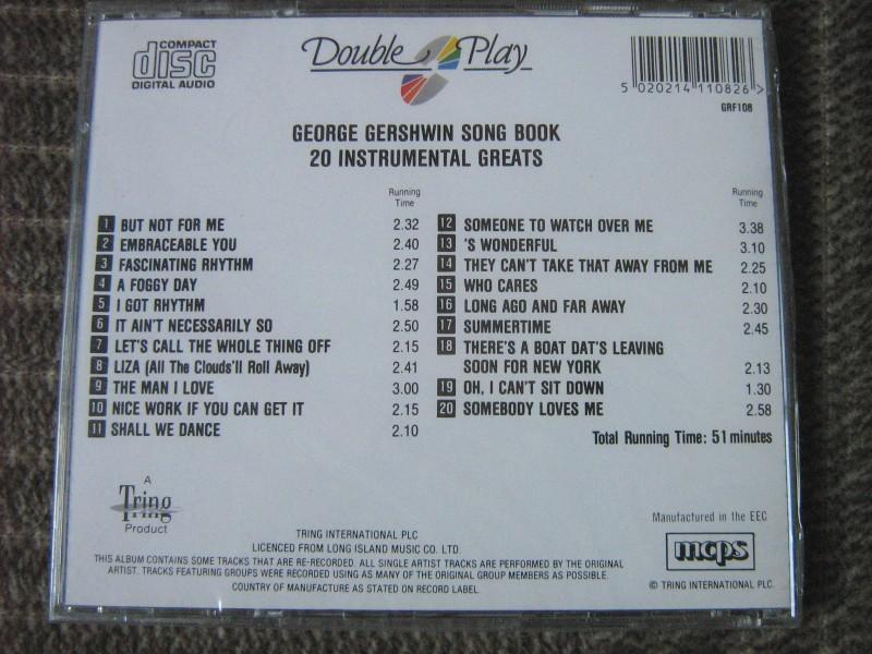 George Gershwin - George Gershwin Song Book - 20 Instrumental Greats