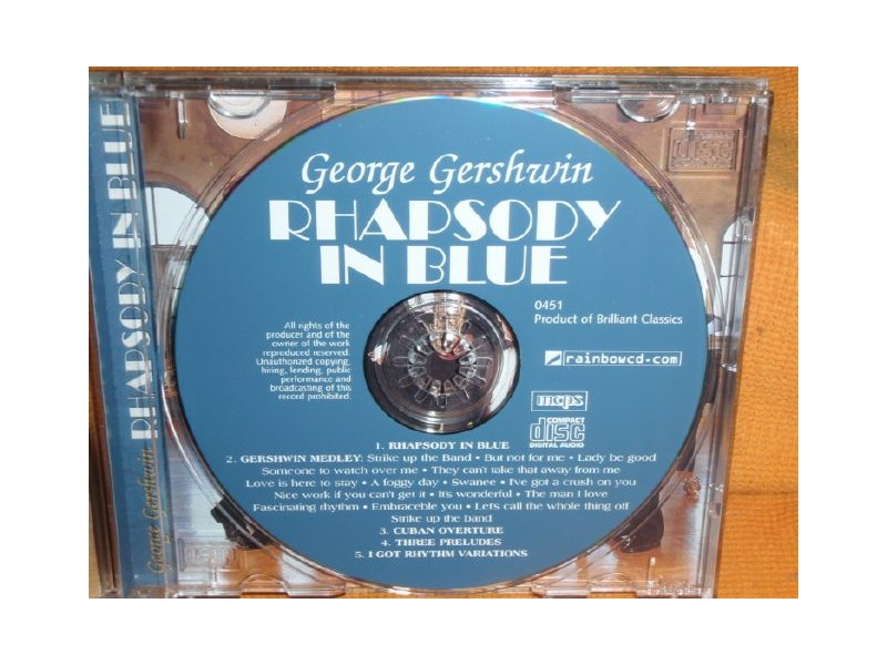 George Gershwin - Rhapsody In Blue(CD)