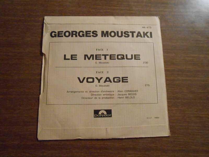 Georges Moustaki - Le Métèque / Voyage