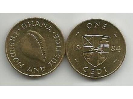 Ghana 1 cedi 1984. UNC