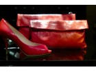 Gianni Chiarini NOVA- Koral crvena kožna ženska torbica