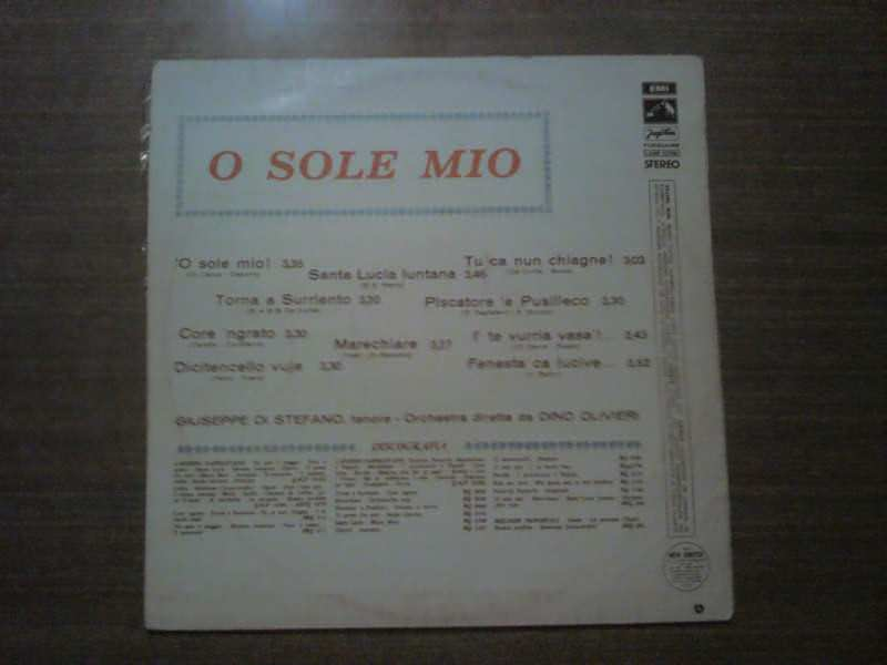 Giuseppe Di Stefano - O Sole Mio