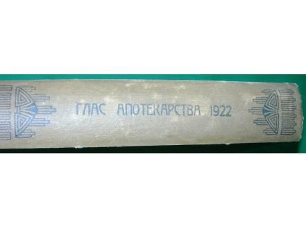 Glas apotekarstva ukoričeno god. IV, 1922., Kraljevina