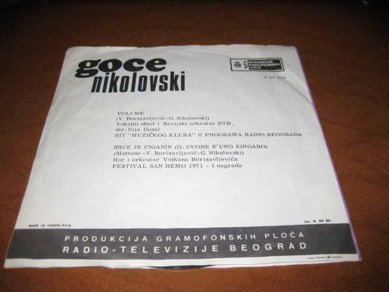 Goce Nikolovski - Voli Me / Srce Je Ciganin (Il Cuore E` Uno Zingaro)