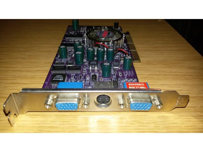 Graficka karta Agp ATI Radeon 7500 Le 64 Dual Vga!