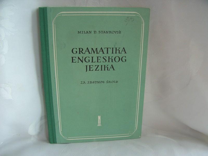 Gramatika engleskog jezika Milan D Stanković