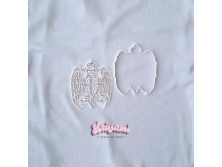 Grb Srbije modla za kolače 12cm, modle za kolace