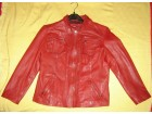 Grčka crvena kožna jakna `NEWTON`