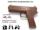 Gumeni pištolj za trening odbrane - od obojene gume
