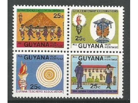 Gvajana,Naše nasleđe 1983.,četverac,čisto
