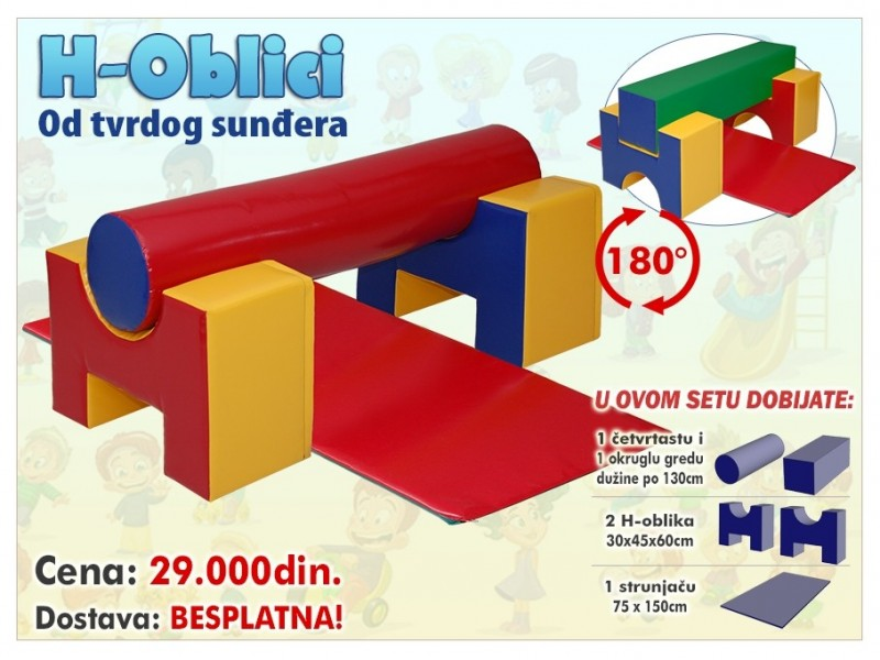 H-Oblici - elementi za igraonice i igranje dece