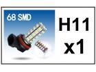 H11 LED Sijalica - 68 SMD dioda - 1 komad