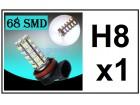 H8 LED Sijalica - 68 SMD dioda - 1 komad