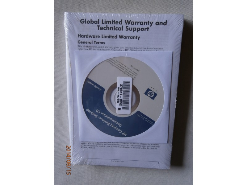 HP Compaq Business Desktop Documentation CD dc5100