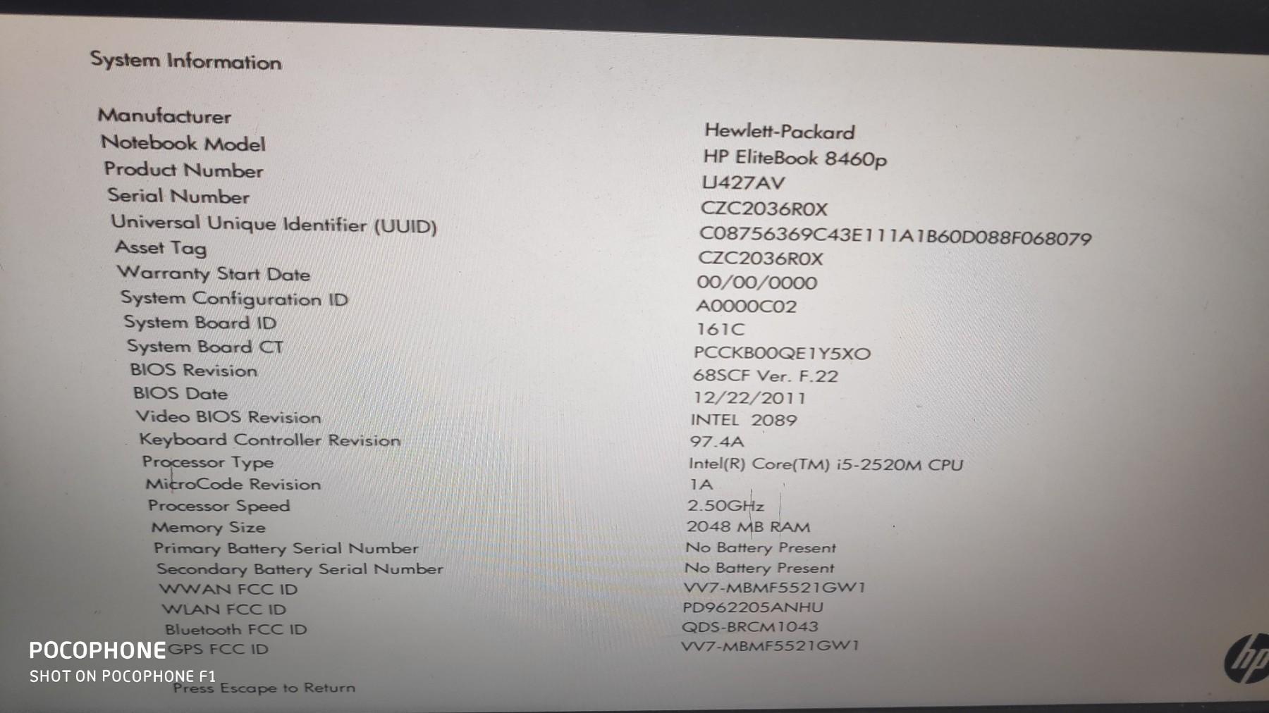 HP Elitebook 8460p-MATICNA PLOCA - Kupindo com (54835931)