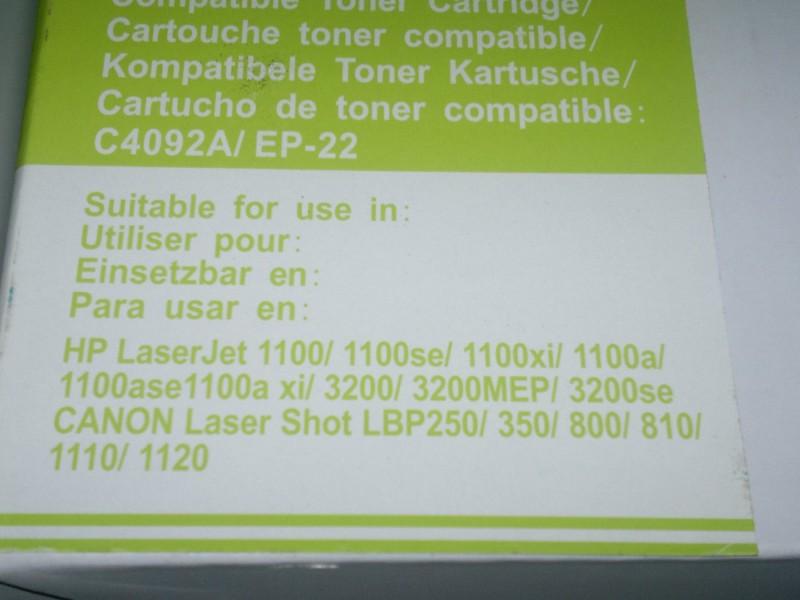HP toner 92A / CANON EP22 800 1100 3200