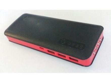 HRD-5343029 ** Gembird 6000mAh power bank + display black, 3xUSB, LED (639)