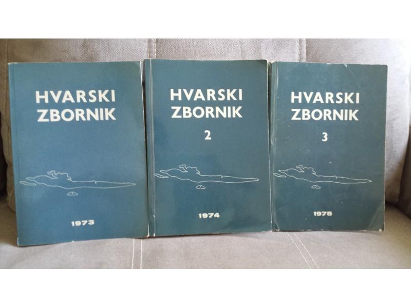 HVARSKI ZBORNIK 1-3 (1973, 1974, 1975)