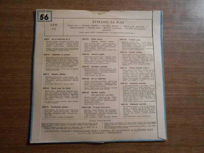 Hazy Osterwald Sextett, Lothar Loeffler Ensemble - Sviramo Za Ples