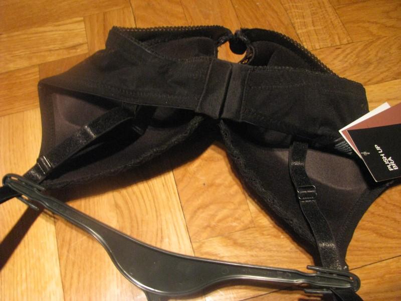 H&M crna čipka, novo sa etiketom, 75C,80C, push up