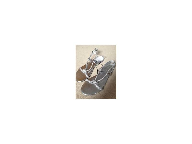 H&M srebrne sandale,NOVO sa etiketom,36