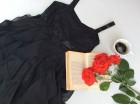 H&m crna predivna haljinica za devojcice Za 12/13 god