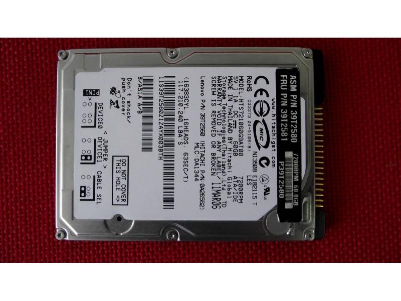 Hitachi ATA hard disk 60GB 2,5`7200 RPM