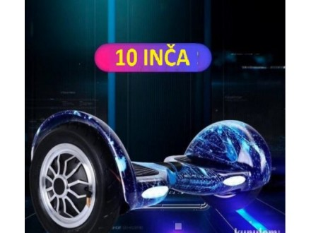 Hoverboard sa ruckom- Elektricni Skuter 10` Galaxy plav