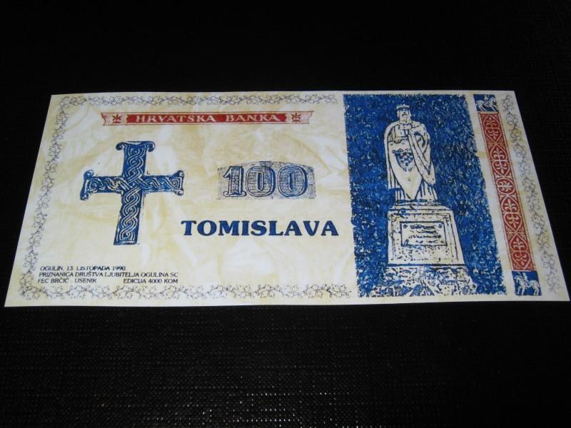 Hrvatska 1990 100 Tomislava (Fantazijska) REPLIKA UNC