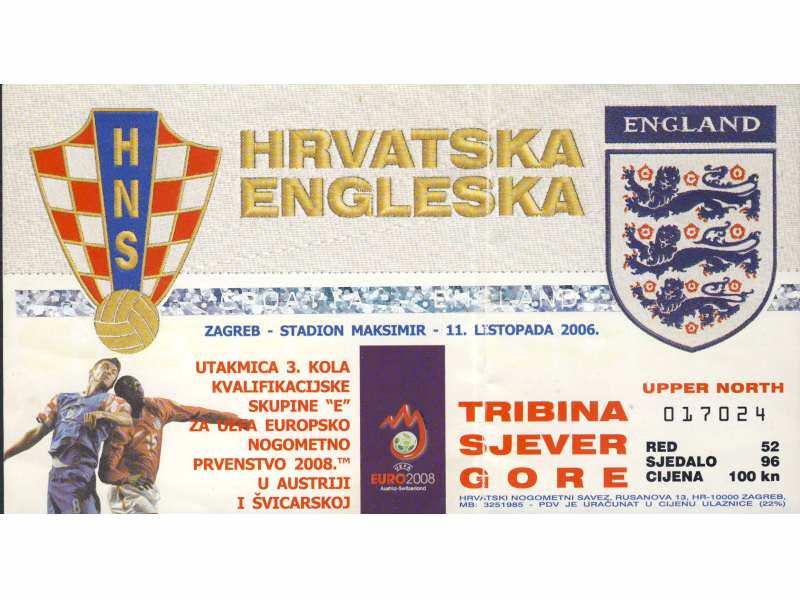 Hrvatska - Engleska   ,   2006.god.