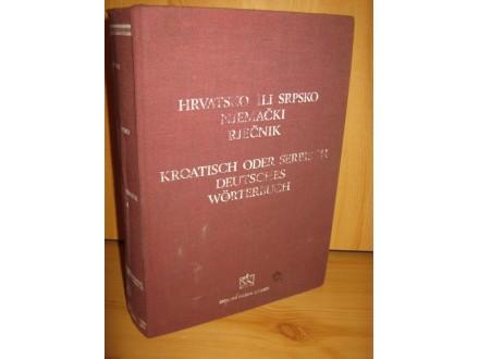 Hrvatsko ili srpsko-njemački rječnik