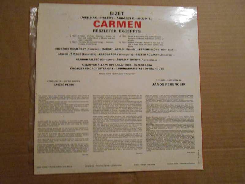 Hungarian State Opera Orchestra, Magyar Állami Operaház Énekkara, János Ferencsik, Georges Bizet - Carmen (Részletek/Excerpts)