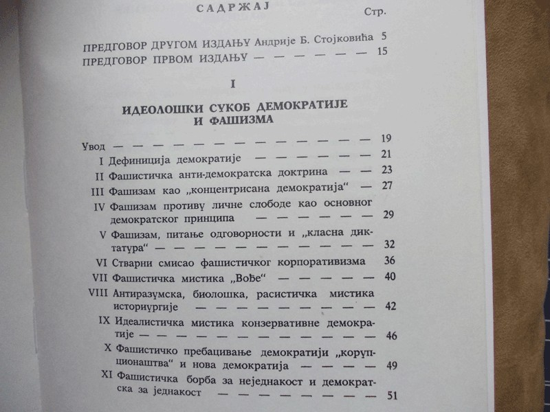 IDEOLOSKI SUKOB DEMOKRATIJE I FASIZMA - DR DUSAN NEDELJ