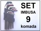 IMBUS kljucevi - 9 komada
